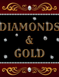 Diamonds and Gold Fancy Divider Bars Pack