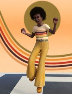 Child Antoine and 1970s Outfit for Genesis 8 Male