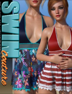 SWIM Couture Textures for dForce Midnight Babydoll