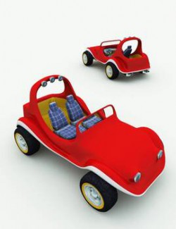 TB Toon Dune Buggy for Poser