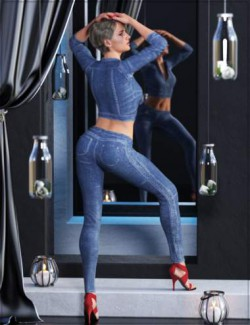 Denim Dreams Outfit for Genesis 8 and 8.1 Females