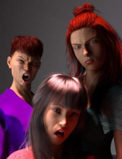 Emotion Wheel Expressions for Genesis 8 Female