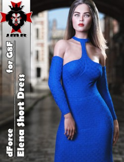 JMR dForce Elena Short Dress for G8F