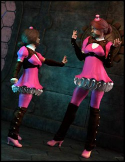 dForce Steamrose Outfits for Genesis 8 Females