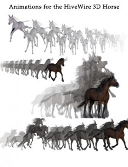 Animated Poses for the HiveWire 3D Horse Daz Studio
