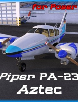 Piper PA-23 Aztec  for Poser