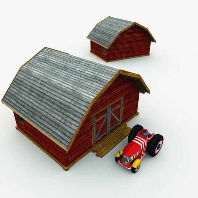 TB Tractor and Barn for Poser
