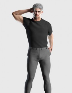 dForce Tucked Tee Outfit for Genesis 8 and 8.1 Males