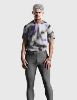 dForce Tucked Tee Textures