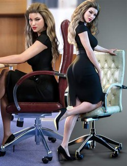 Z Modern Office Chair and Poses for Genesis 8 and 8.1