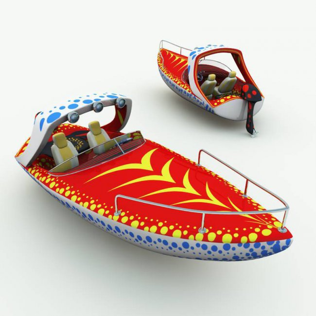 TB Toon Speed Boat for Poser