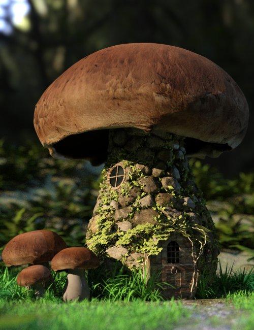 Mushroom House for DAZ Studio