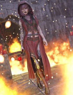 dForce Diabolus Outfit for Genesis 8 and 8.1 Female