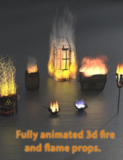 Animated fire and flames