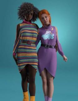 dForce Cold Shoulder: Graphic Knit Textures