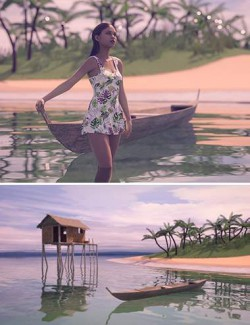 Beauty In Paradise - Ligaya And The Philippine Island Hut - Genesis 8 Female