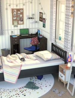 Messy Vignette Bedroom