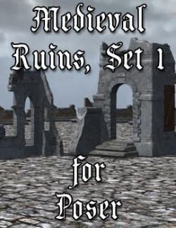 Medieval Ruins Set 1 for Poser