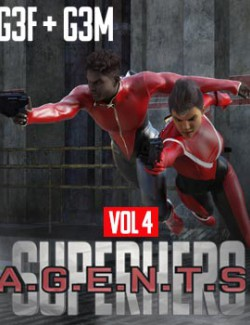 SuperHero Agents for G3F and G3M Volume 4