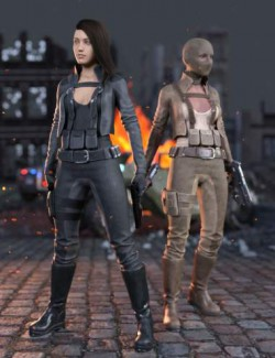 Rebel Militia Outfit for Genesis 8.1 Females