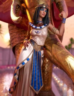 dForce Queen of Egypt Outfit for Genesis 8 Females