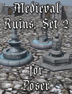 Medieval Ruins Set 2 for Poser