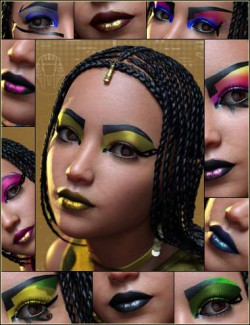 Extreme Closeup Cleo Style Geoshell Makeups for Genesis 8 Female(s)