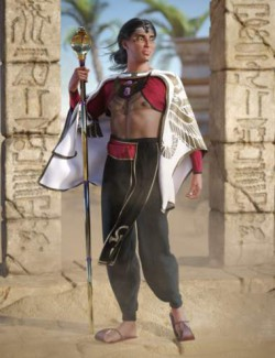 dForce Curse of Kings Outfit for Genesis 8 Males