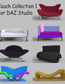 Couch Collection 1 for DAZ Studo