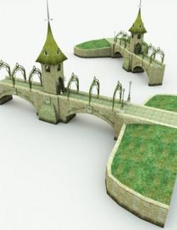 Elven Village Bridge-Gate for Poser
