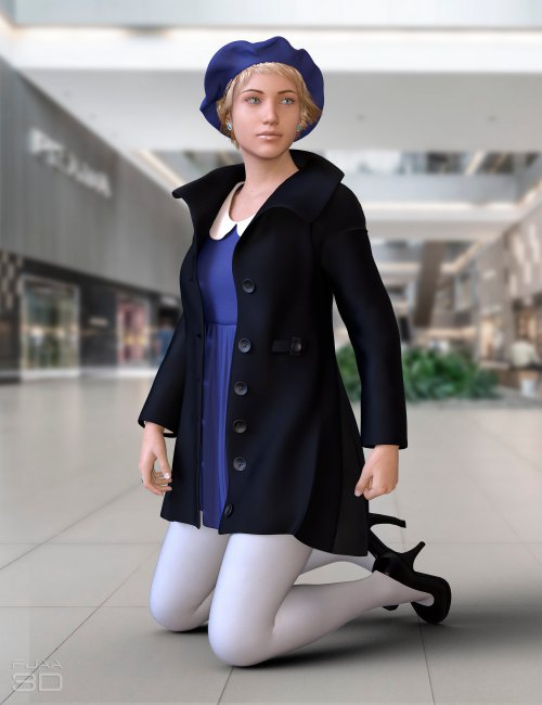 dForce Winter Full Dress for Genesis 8.1 Females