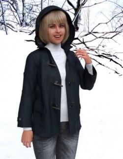 dForce KM Duffle Coat for Genesis 8 Females