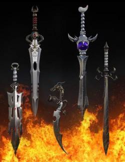 Fantasy Swords Collection Vol1 for Genesis 8