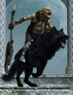 Goblin Rider Poses for War Goblin HD and Dire Wolf