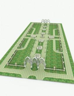 Elven Village Park for Poser