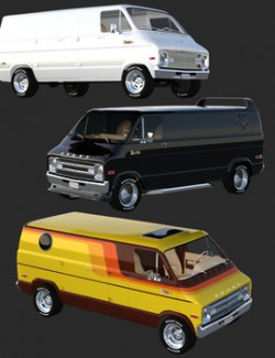 DODGE STREET VAN BUNDLE for DAZ