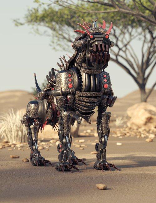 Steampunk Attack Dog