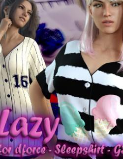 Lazy ~ for dForce - Sleepshirt - G8