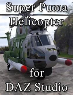 Super Puma AS-332B Helicopter for DAZ Studio