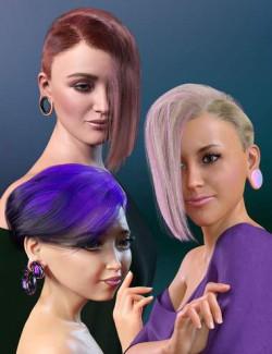 WD Salon: Asymmetrical Wedge Cut dForce Hair for Genesis 8.1 Female