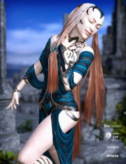 Lady of Mists Hair with dForce for Genesis 8 Female