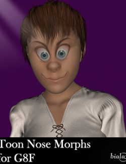 Toon Nose Morphs for G8F and G8.1F