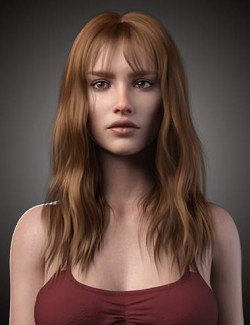 Flora Hair For Genesis 8 and 8.1 Female