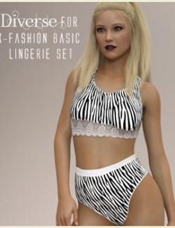 Diverse for X-Fashion Basic Lingerie Set