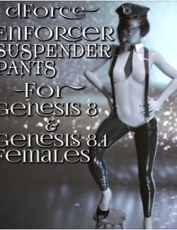 dForce Enforcer Suspender Pants for Genesis 8 and 8.1 Females