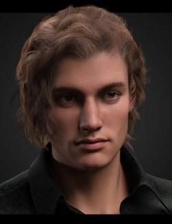 dforce Rogue Waves Hair for Genesis 8, Genesis 8.1 and Genesis 3 Males