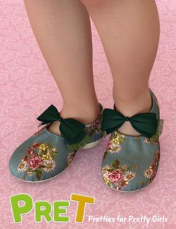 PreT Girls Soft Shoes for Genesis 8 Females