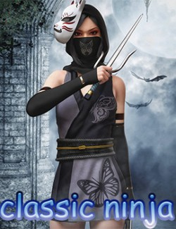 fantasy anime outfit 9 _ classic ninja  for G8F