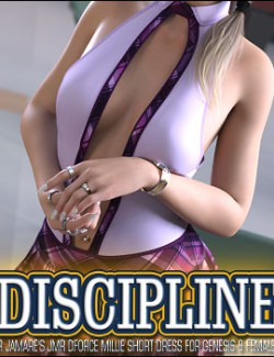 Discipline for JMR dForce Millie Short Dress for Genesis 8 Females