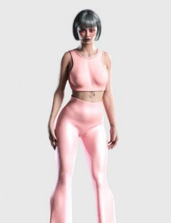 dForce Flare Outfit for Genesis 8 and 8.1 Females